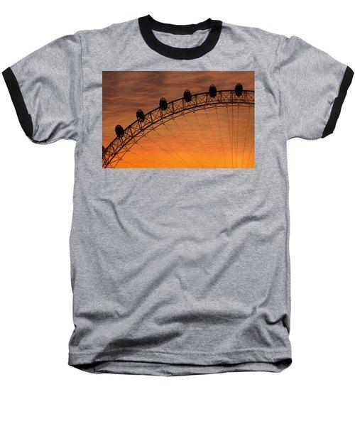 London Eye Sunset Baseball T-Shirt by Martin Newman