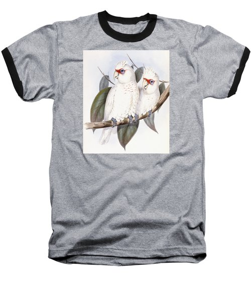Long-billed Cockatoo Baseball T-Shirt by John Gould