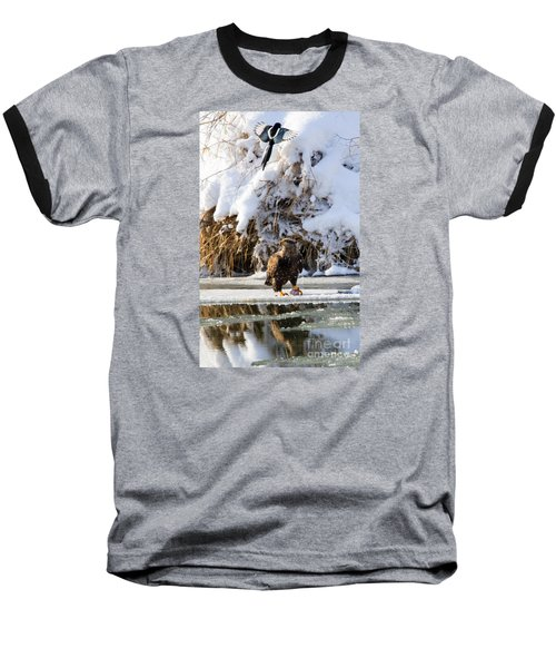 Lookout Above Baseball T-Shirt by Mike Dawson