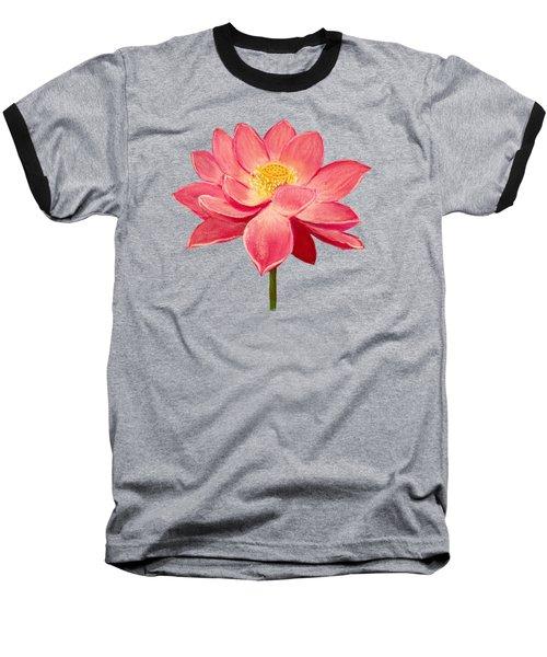 Lotus Flower Baseball T-Shirt by Anastasiya Malakhova