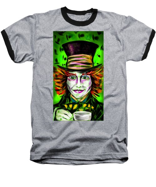 Mad Hatter Baseball T-Shirt by Alessandro Della Pietra