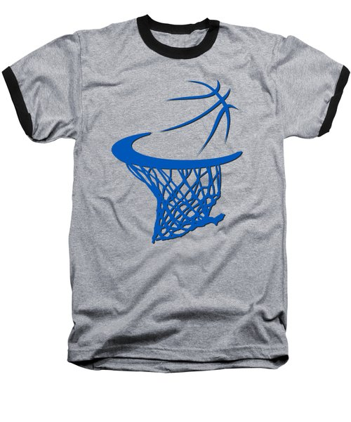 Magic Basketball Hoop Baseball T-Shirt by Joe Hamilton