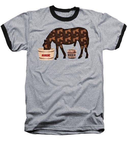 Magic Beer Baseball T-Shirt by Goko Nikolovski