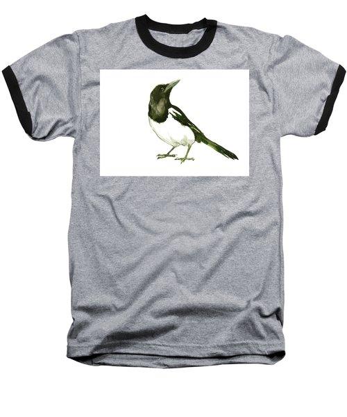 Magpie Baseball T-Shirt by Suren Nersisyan
