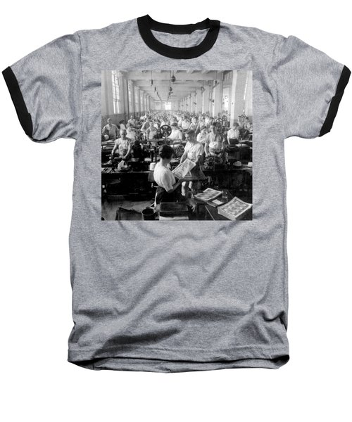 Making Money At The Bureau Of Printing And Engraving - Washington Dc - C 1916 Baseball T-Shirt by International  Images