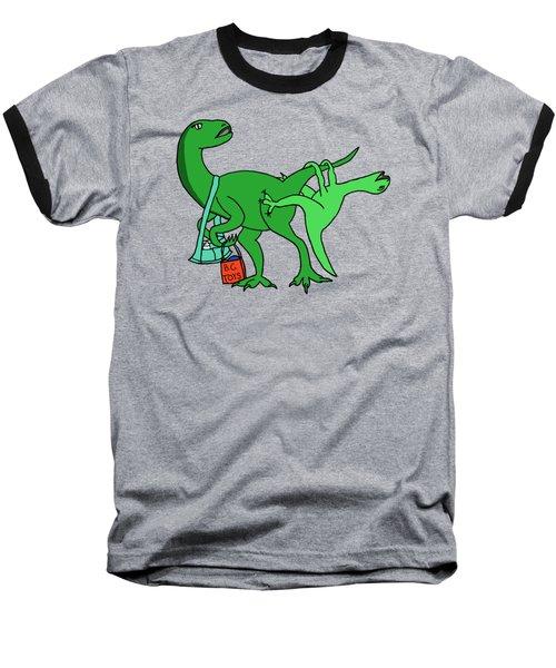 Mamasaurus Baseball T-Shirt by Tamera Dion