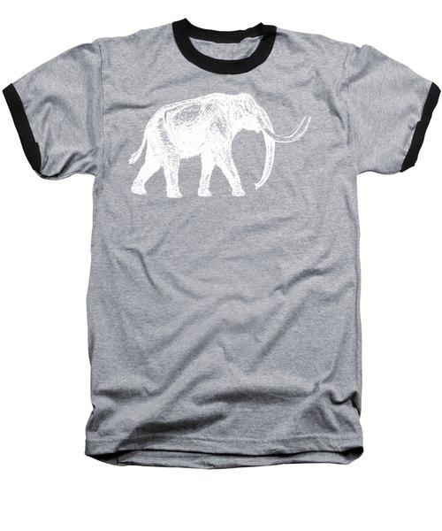 Mammoth White Ink Tee Baseball T-Shirt by Edward Fielding