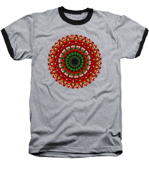 Mandala Tulipa By Kaye Menner Baseball T-Shirt by Kaye Menner