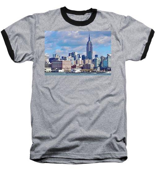 Manhattan Skyline No. 7-1 Baseball T-Shirt by Sandy Taylor