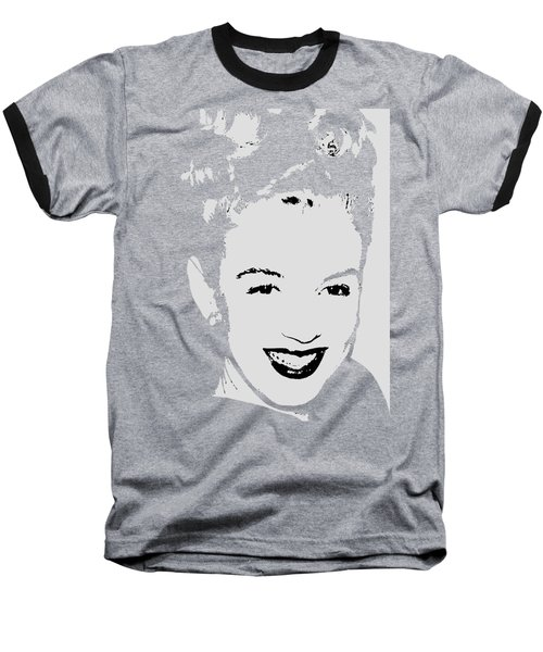 Marilyn Baseball T-Shirt by Joann Vitali