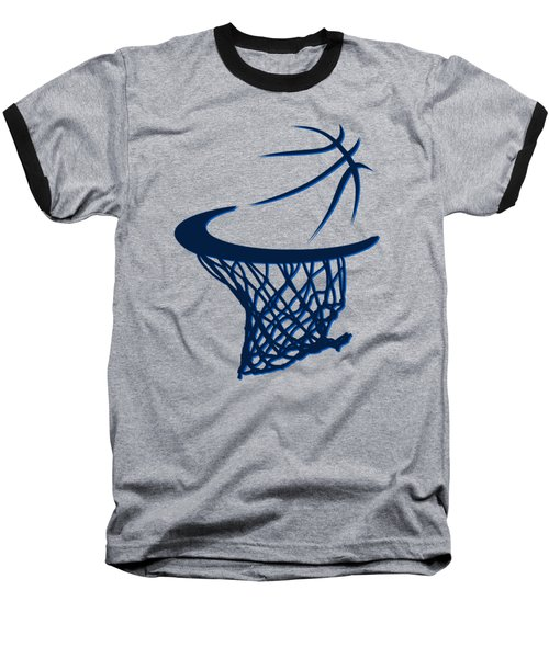 Mavericks Basketball Hoops Baseball T-Shirt by Joe Hamilton