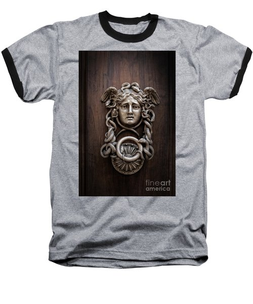 Medusa Head Door Knocker Baseball T-Shirt by Edward Fielding