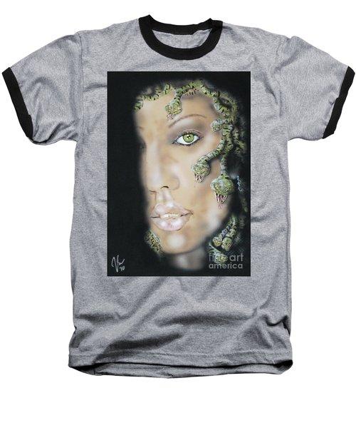 Medusa Baseball T-Shirt by John Sodja