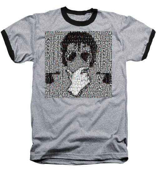 Michael Jackson Glove Montage Baseball T-Shirt by Paul Van Scott