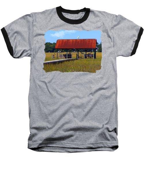 Midday Island Creek View Baseball T-Shirt by Deborah Smith