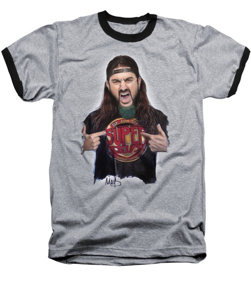 Mike Portnoy Baseball T-Shirt by Melanie D