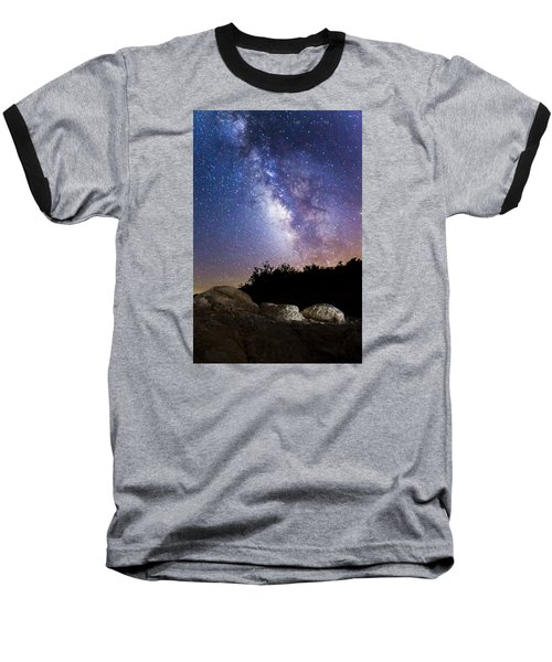 Milky Way Over A Western Diamondback Rattlesnake Baseball T-Shirt by Chuck Brown
