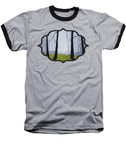 Misty Forest Baseball T-Shirt by Anastasiya Malakhova