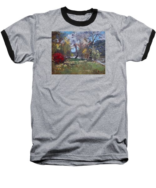 Mixed Weather In A Fall Afternoon Baseball T-Shirt by Ylli Haruni