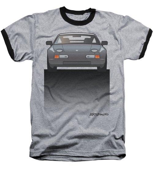 Modern Euro Icons Series Porsche 928 Gts Split Baseball T-Shirt by Monkey Crisis On Mars