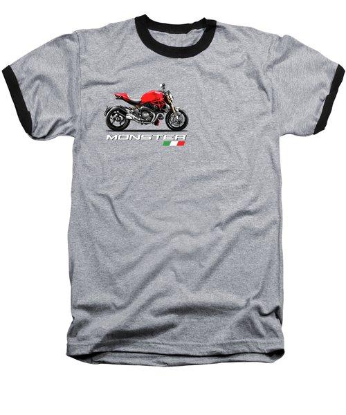 Monster 1200 Baseball T-Shirt by Mark Rogan