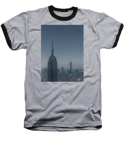 Morning In New York Baseball T-Shirt by Chris Fletcher