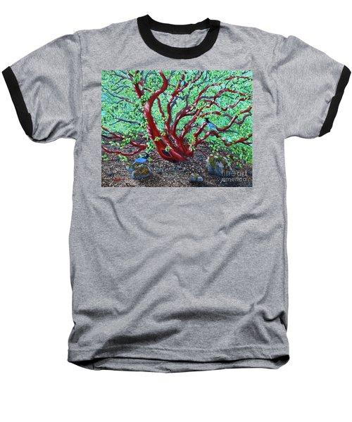 Morning Manzanita Baseball T-Shirt by Laura Iverson