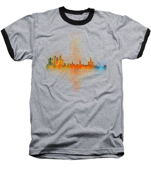 Moscow City Skyline Hq V4 Baseball T-Shirt by HQ Photo