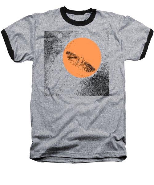 Moth In Orange Baseball T-Shirt by Sverre Andreas Fekjan