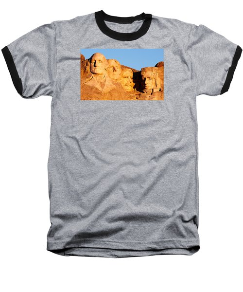 Mount Rushmore Baseball T-Shirt by Todd Klassy