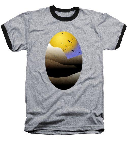 Mountain Sunset Landscape Art Baseball T-Shirt by Christina Rollo