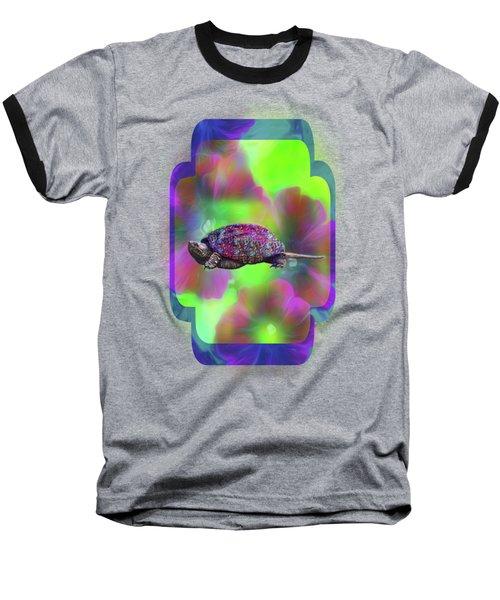 Ms Curlie Baseball T-Shirt by Linda Troski