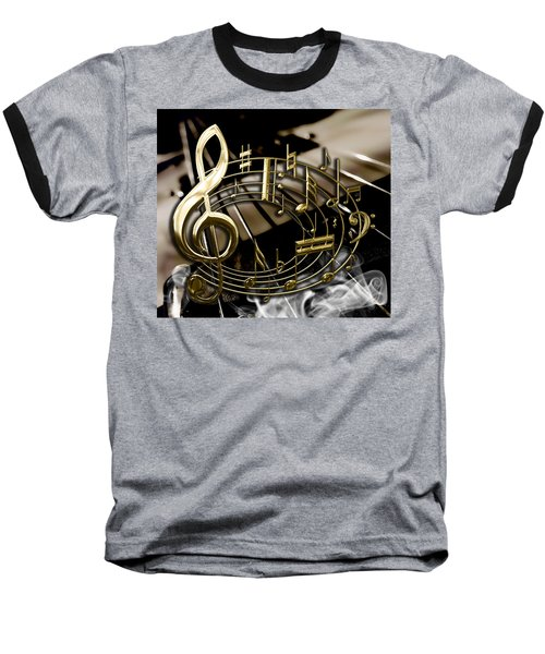 Musical Collection Baseball T-Shirt by Marvin Blaine
