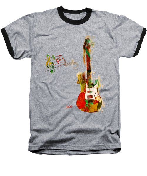 My Guitar Can Sing Baseball T-Shirt by Nikki Smith