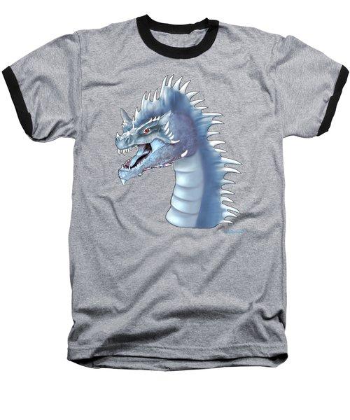 Mystical Ice Dragon Baseball T-Shirt by Glenn Holbrook
