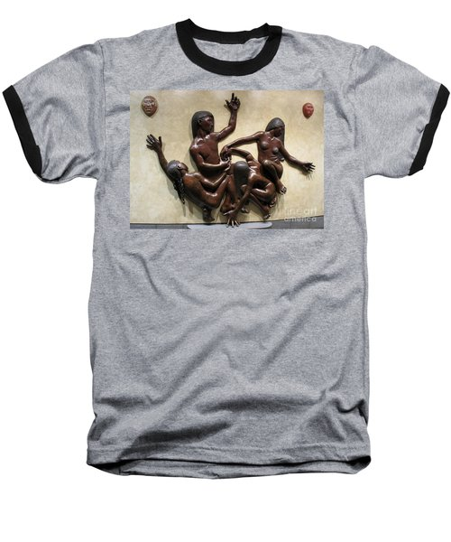 National Museum Of The American Indian 6 Baseball T-Shirt by Randall Weidner