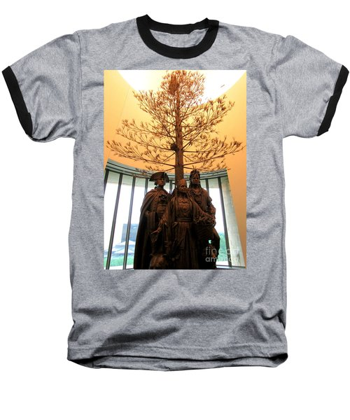 National Museum Of The American Indian 7 Baseball T-Shirt by Randall Weidner