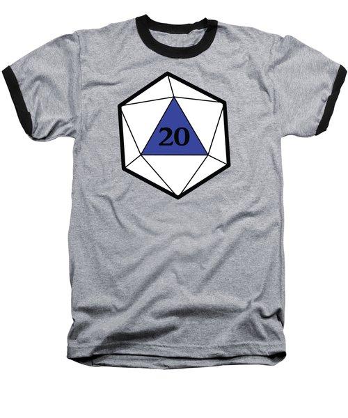 Natural 20 Baseball T-Shirt by Carlo Manara