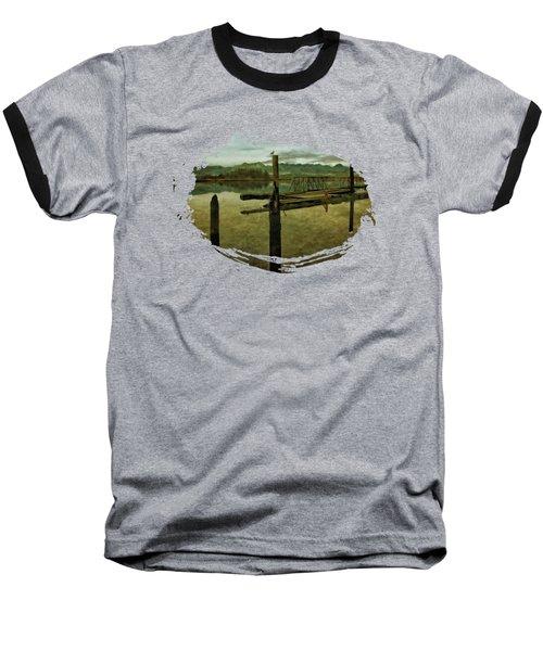 Nehalem Bay Reflections Baseball T-Shirt by Thom Zehrfeld