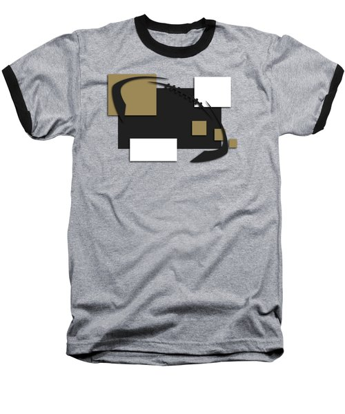 New Orleans Saints Abstract Shirt Baseball T-Shirt by Joe Hamilton