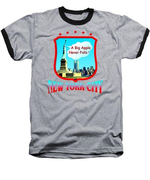 New York City Big Apple - Tshirt Design Baseball T-Shirt by Art America Online Gallery