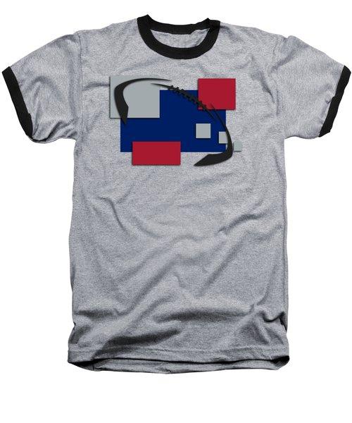 New York Giants Abstract Shirt Baseball T-Shirt by Joe Hamilton