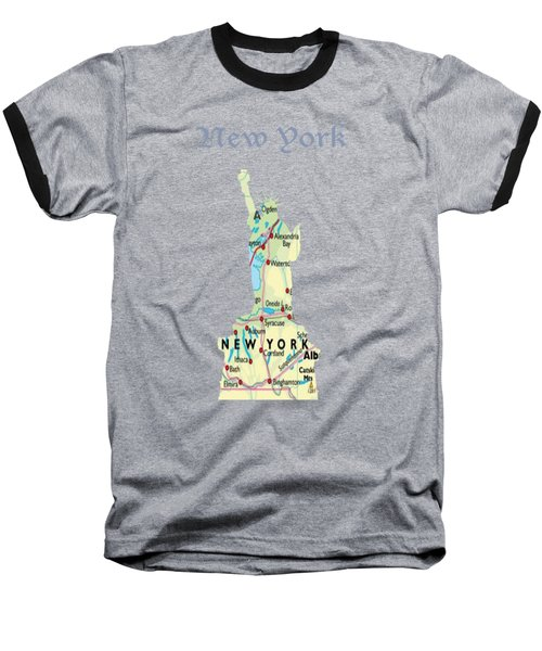 New York Baseball T-Shirt by Art Spectrum