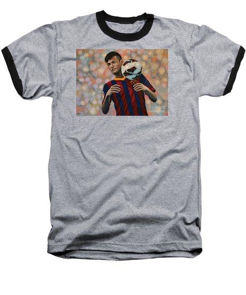Neymar Baseball T-Shirt by Paul Meijering