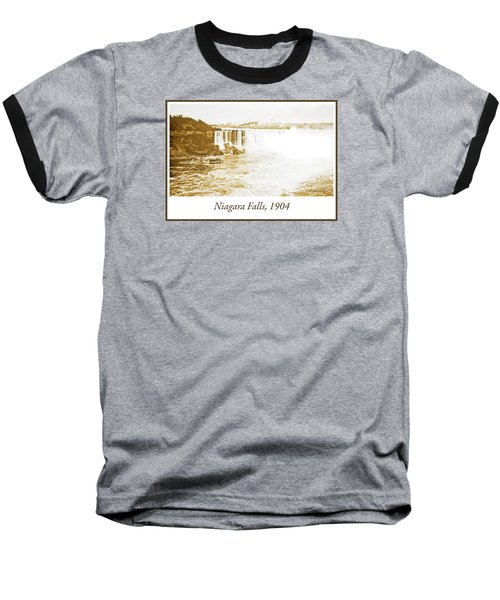 Baseball T-Shirt featuring the photograph Niagara Falls Ferry Boat 1904 Vintage Photograph by A Gurmankin