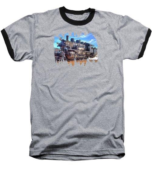 No. 25 Steam Locomotive Baseball T-Shirt by Thom Zehrfeld