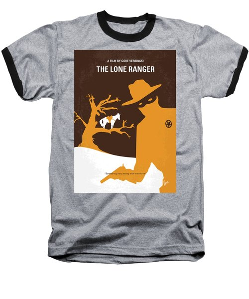 No202 My The Lone Ranger Minimal Movie Poster Baseball T-Shirt by Chungkong Art