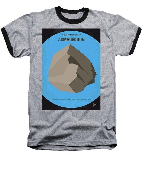 No695 My Armageddon Minimal Movie Poster Baseball T-Shirt by Chungkong Art