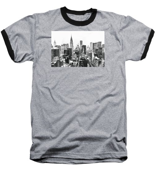 Nyc Snow Baseball T-Shirt by Vivienne Gucwa