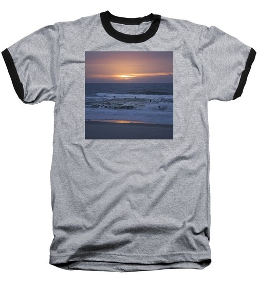 Office View Baseball T-Shirt by Betsy Knapp